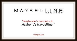 slogan firmy maybelline