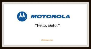 slogan firmy motorola