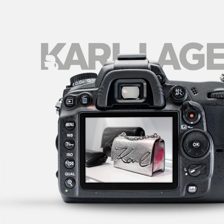 Karl Lagerfeld stores photo shoot